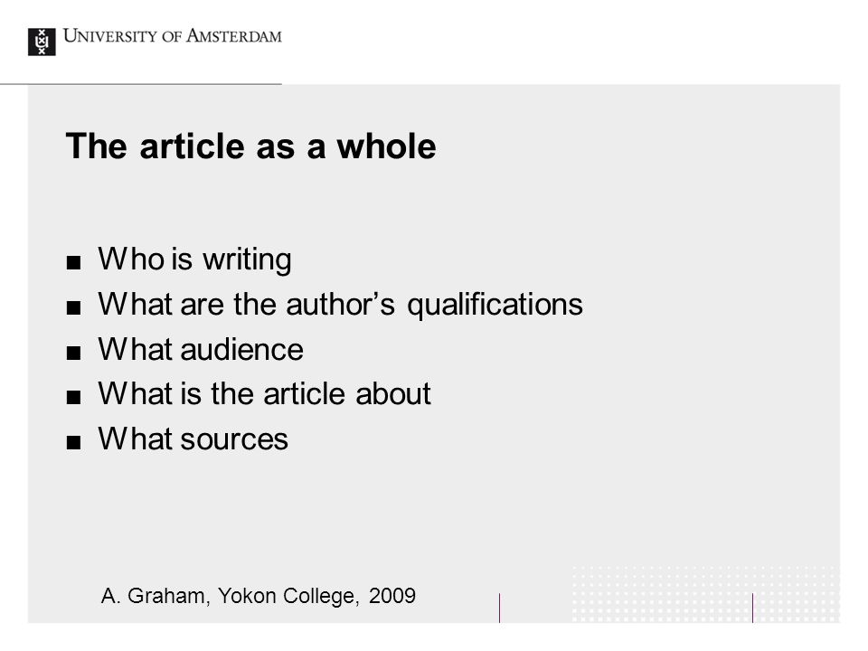 writing author qualifications