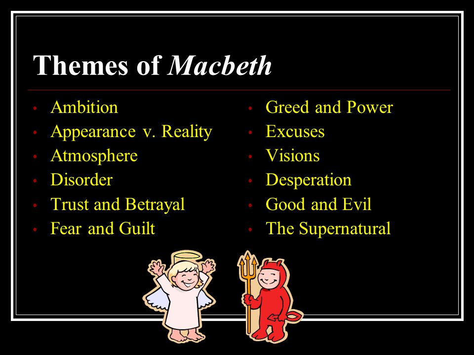 an analysis of the theme of fear in the play macbeth by william shakespeare Macbeth study guide contains a biography of william shakespeare, literature essays, a complete e-text, quiz questions, major themes, characters, and a full summary and analysis.