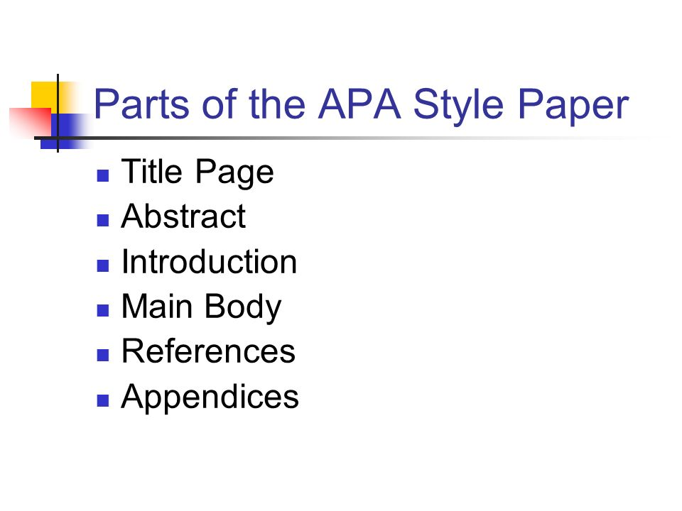 Parts of a research paper format