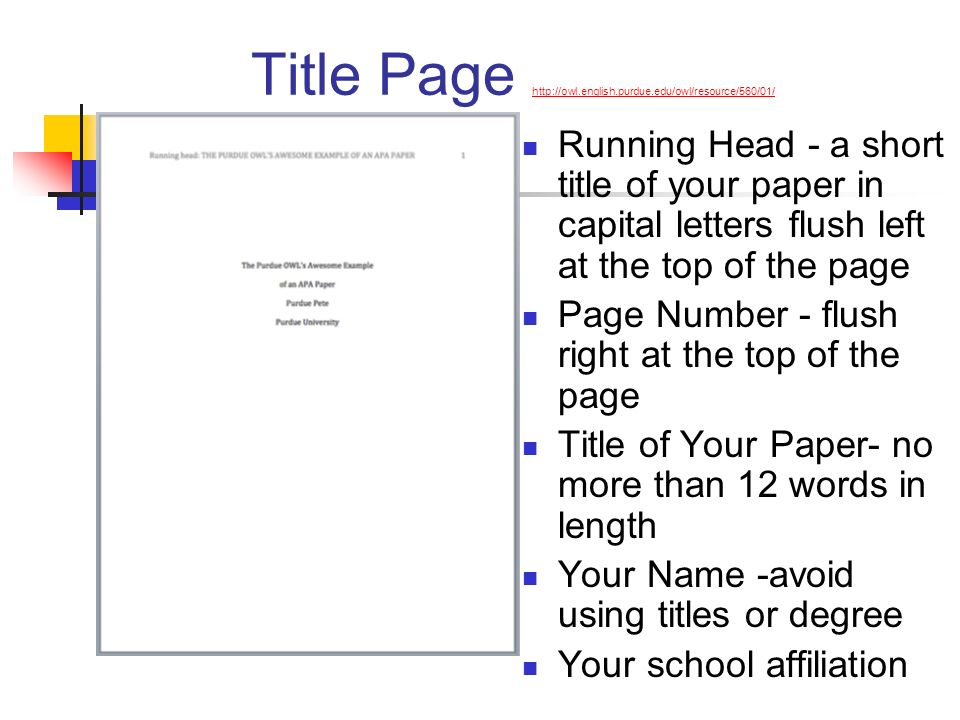APA Style Guide: Formatting Your Paper