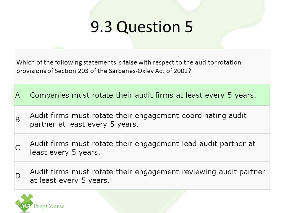 Audit partner rotation issue brief