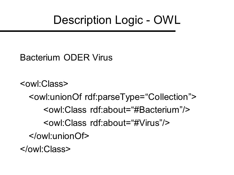 Description Logic - OWL