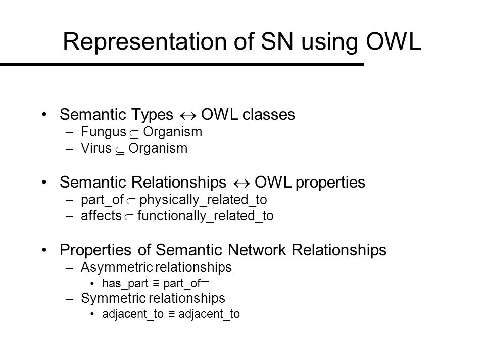 Representation of SN using OWL