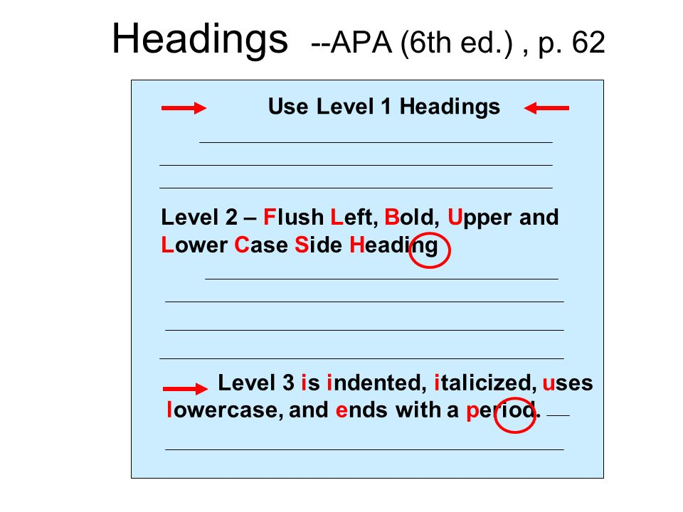 apa headings 6th edition