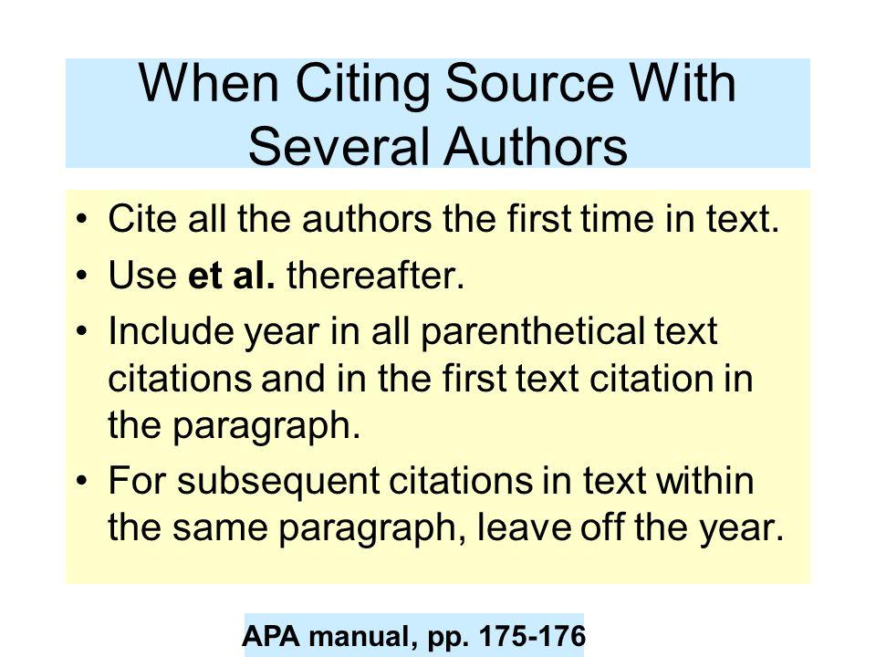 Beaches] Apa in text citation two authors same name