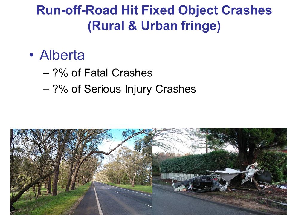 Run-off-Road Hit Fixed Object Crashes (Rural & Urban fringe)