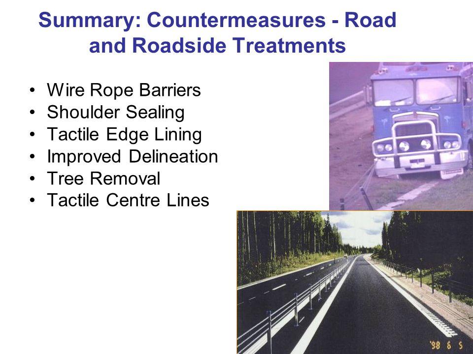 Summary: Countermeasures - Road and Roadside Treatments