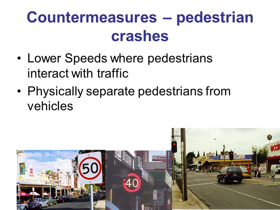 Countermeasures – pedestrian crashes
