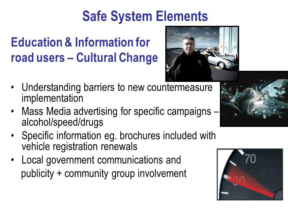Safe System Elements Education & Information for
