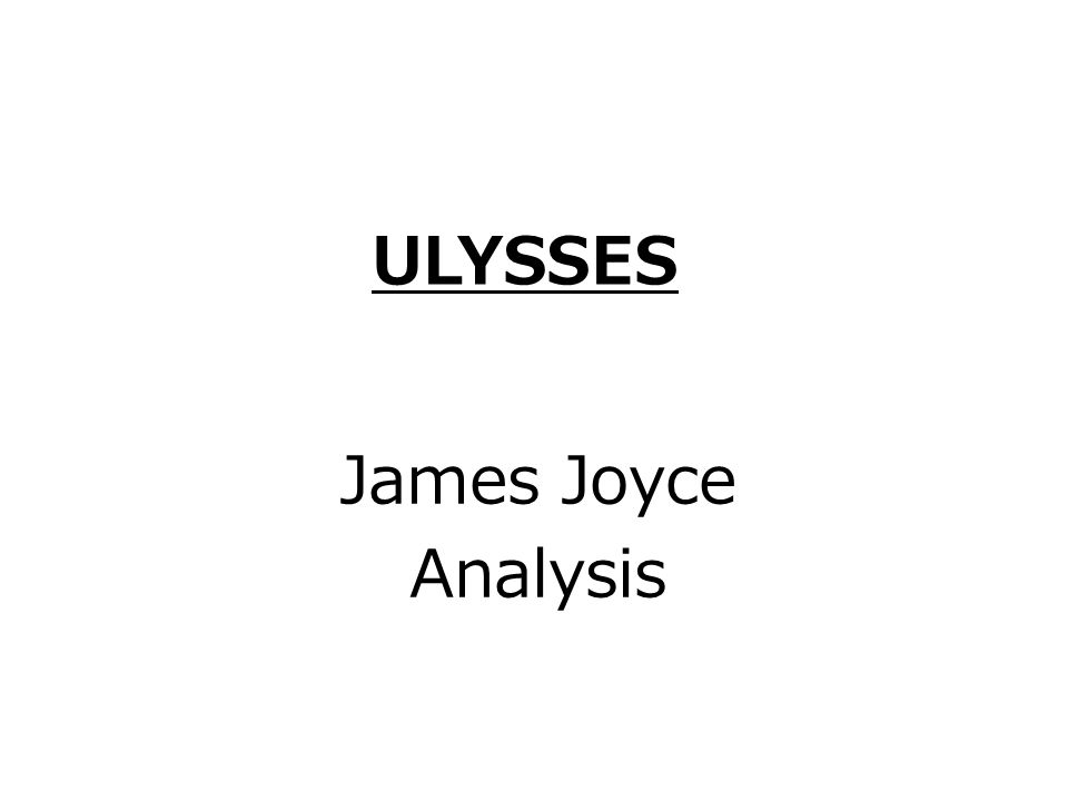 by means of James Joyce