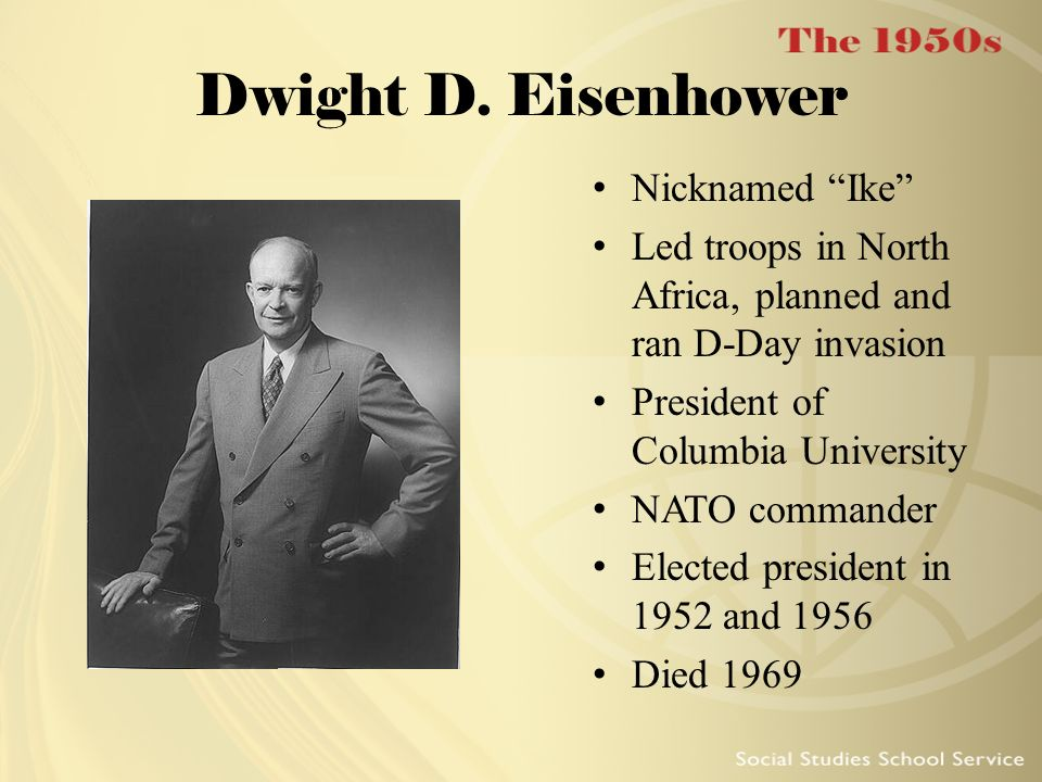 Dwight D. Eisenhower Nicknamed Ike