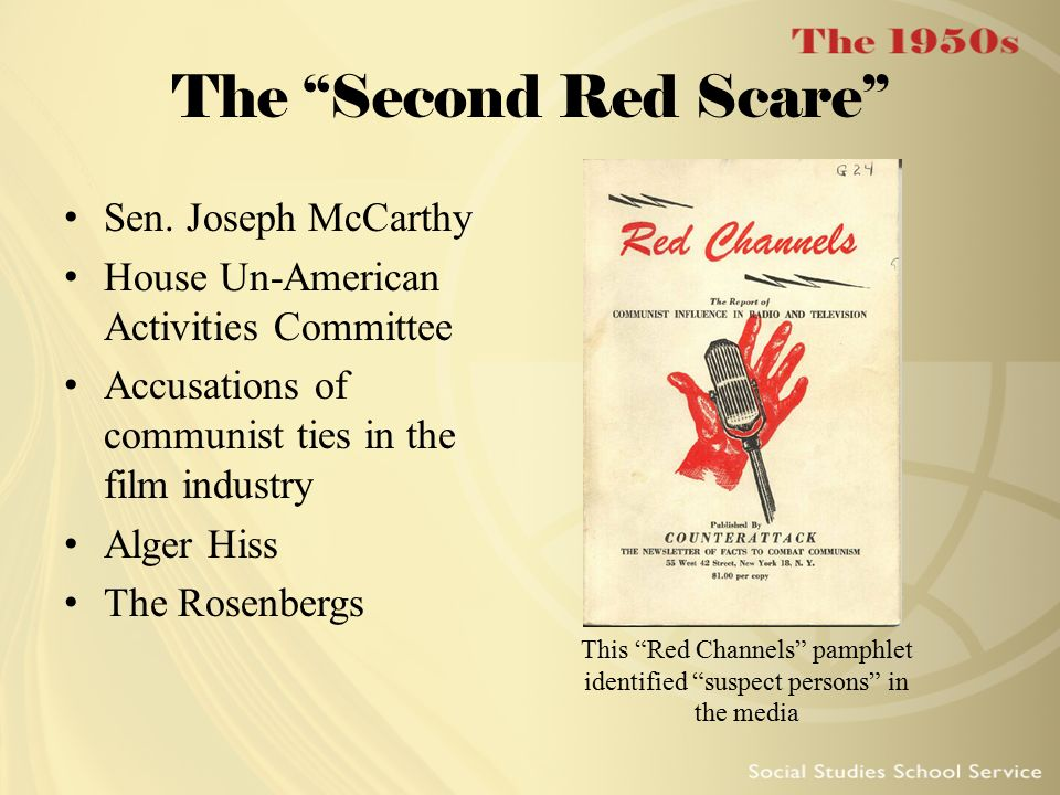 This Red Channels pamphlet identified suspect persons in the media