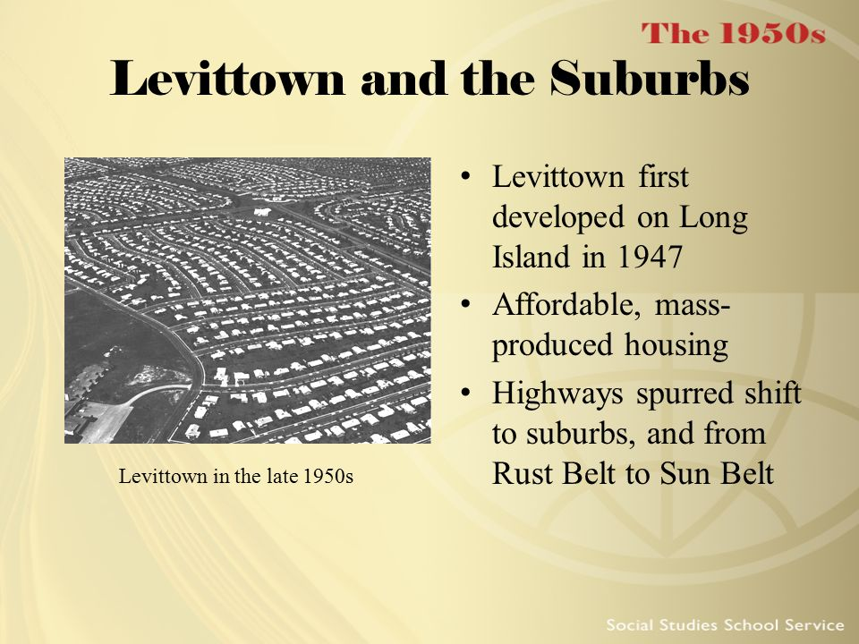 Levittown and the Suburbs