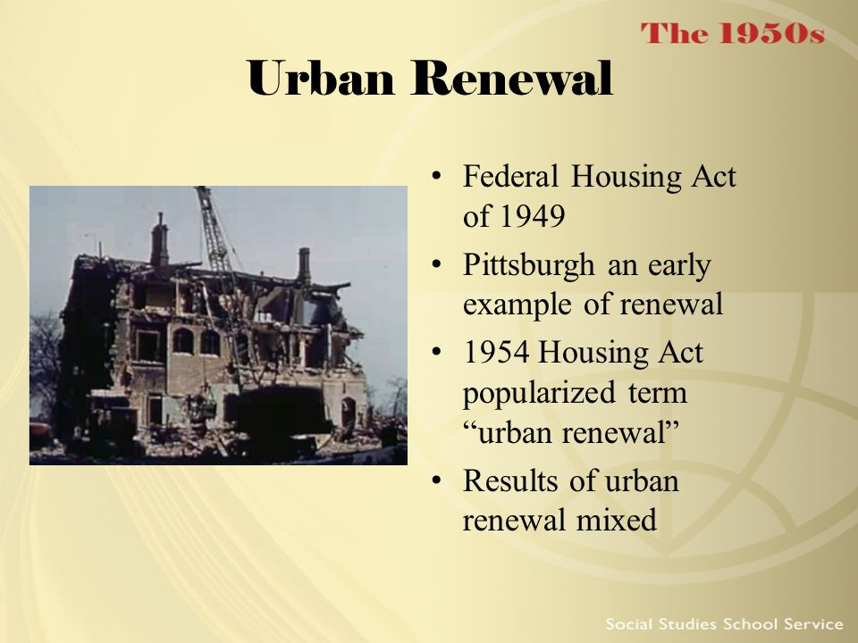 Urban Renewal Federal Housing Act of 1949