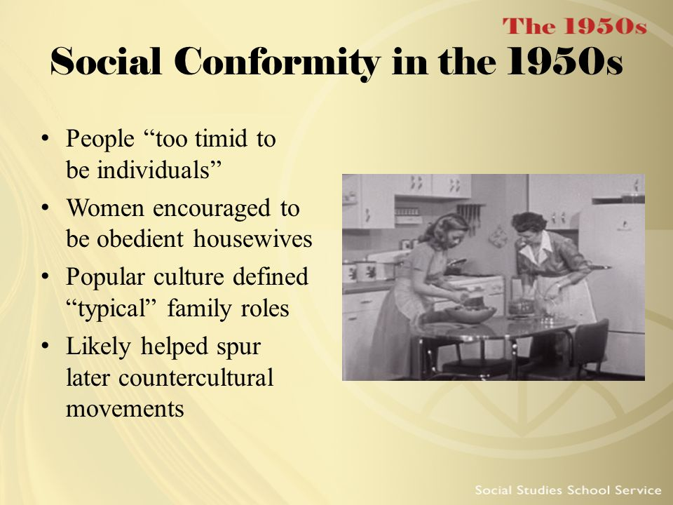 Social Conformity in the 1950s