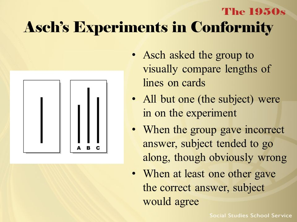 Asch's Experiments in Conformity