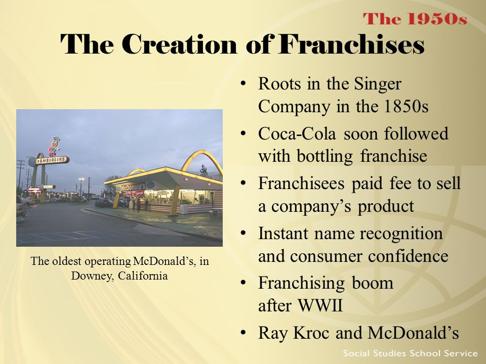 The Creation of Franchises