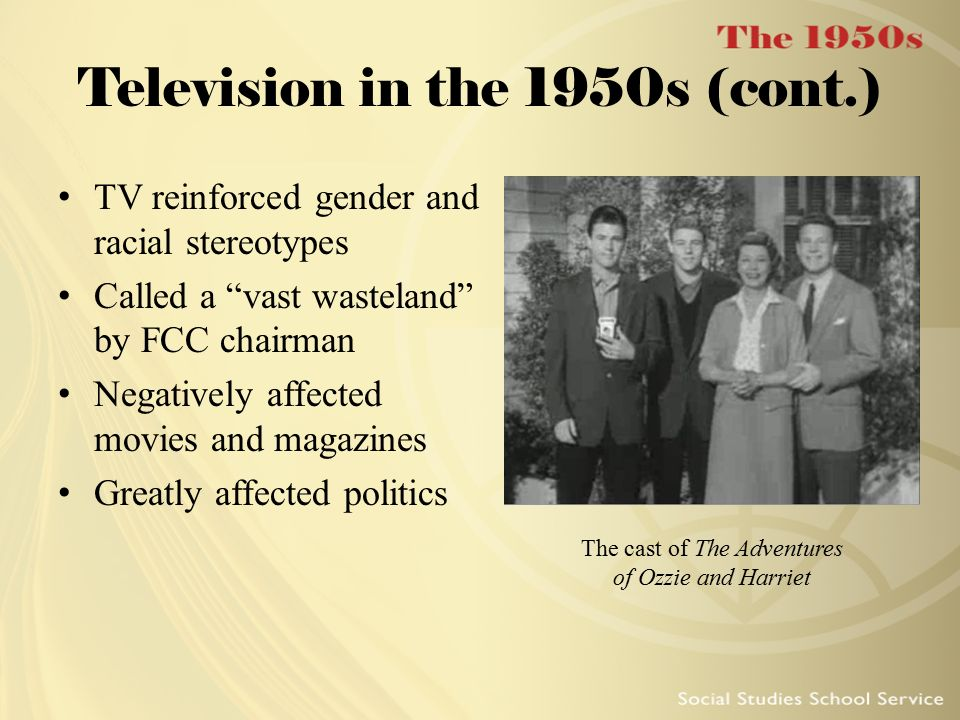 Television in the 1950s (cont.)