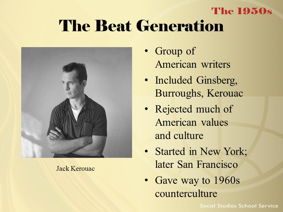 The Beat Generation Group of American writers