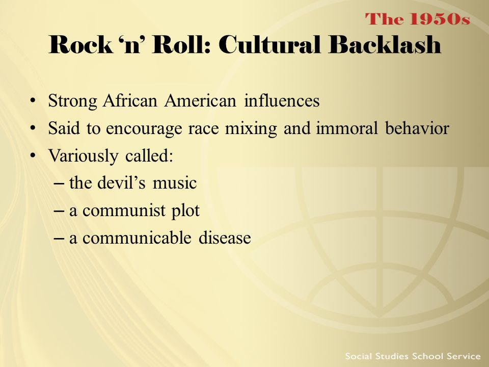 Rock 'n' Roll: Cultural Backlash