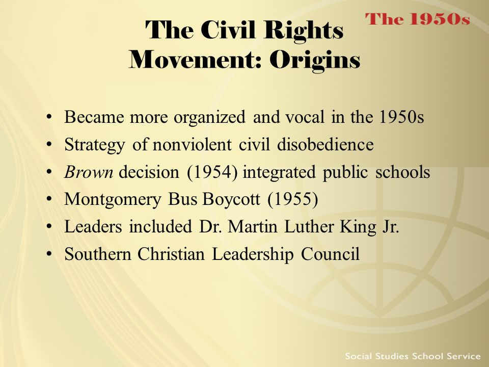 The Civil Rights Movement: Origins