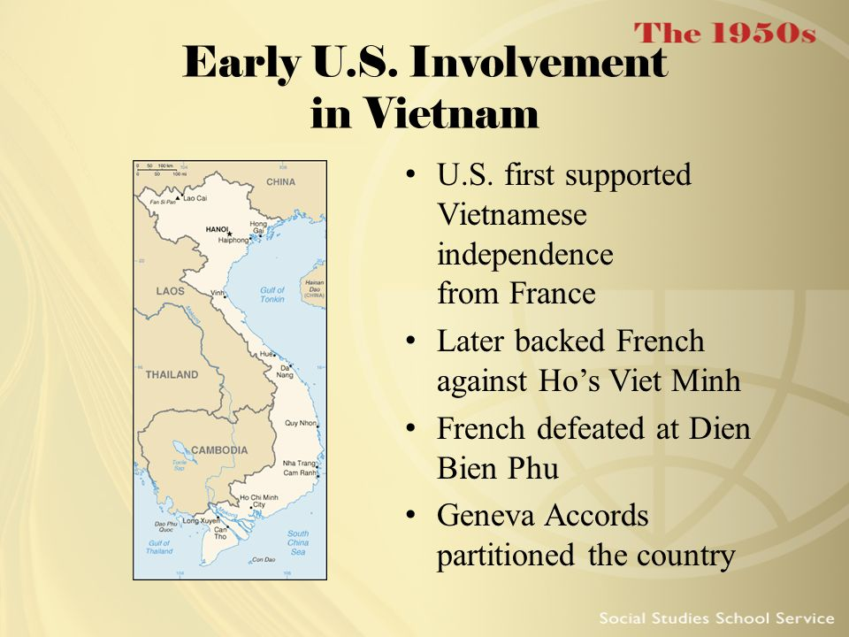 Early U.S. Involvement in Vietnam