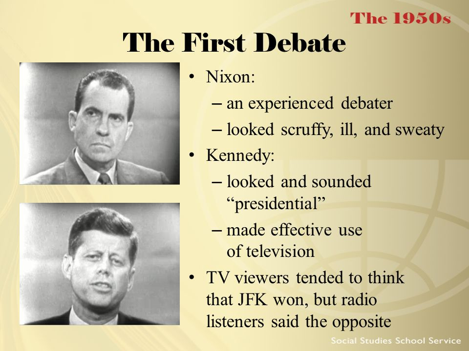 The First Debate Nixon: an experienced debater