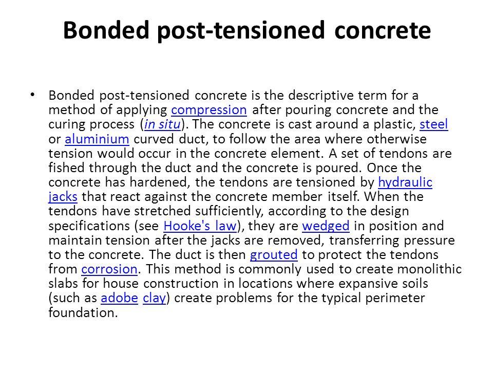 Bonded Post Tensioning : Bridge construction methods of ppt download