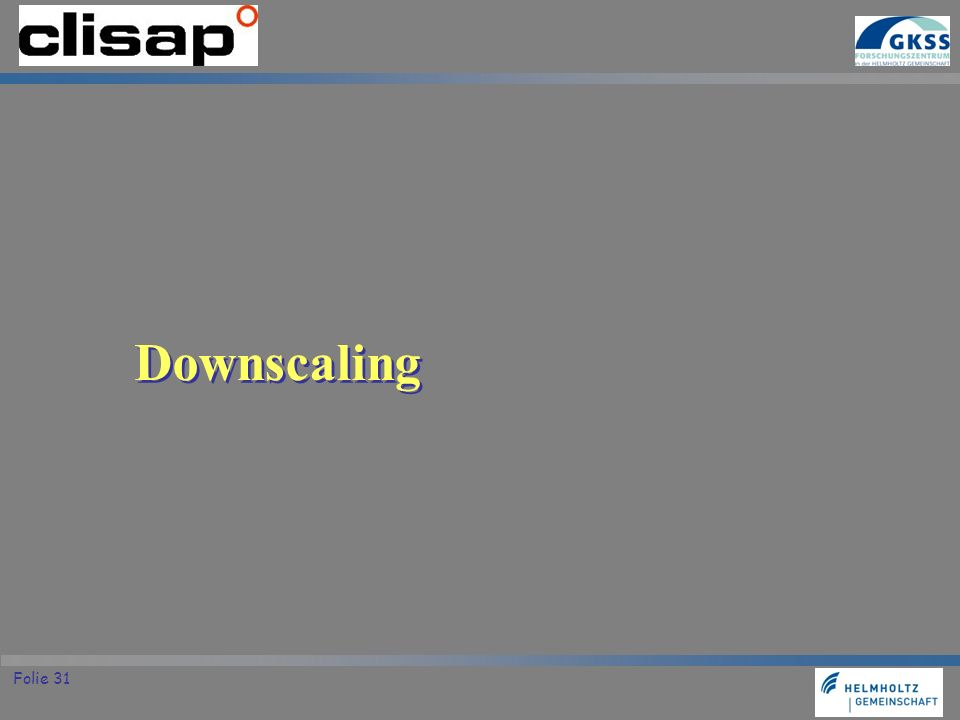 Downscaling