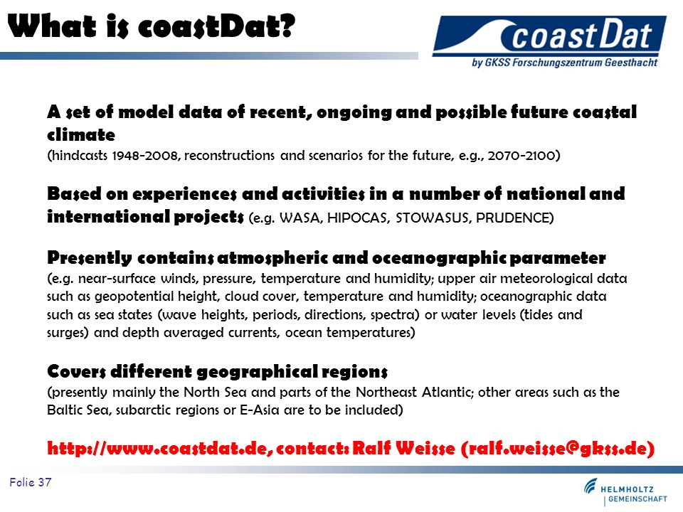 What is coastDat