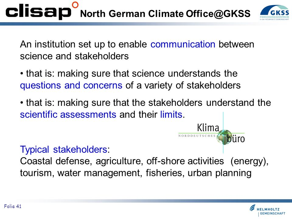 North German Climate Office@GKSS
