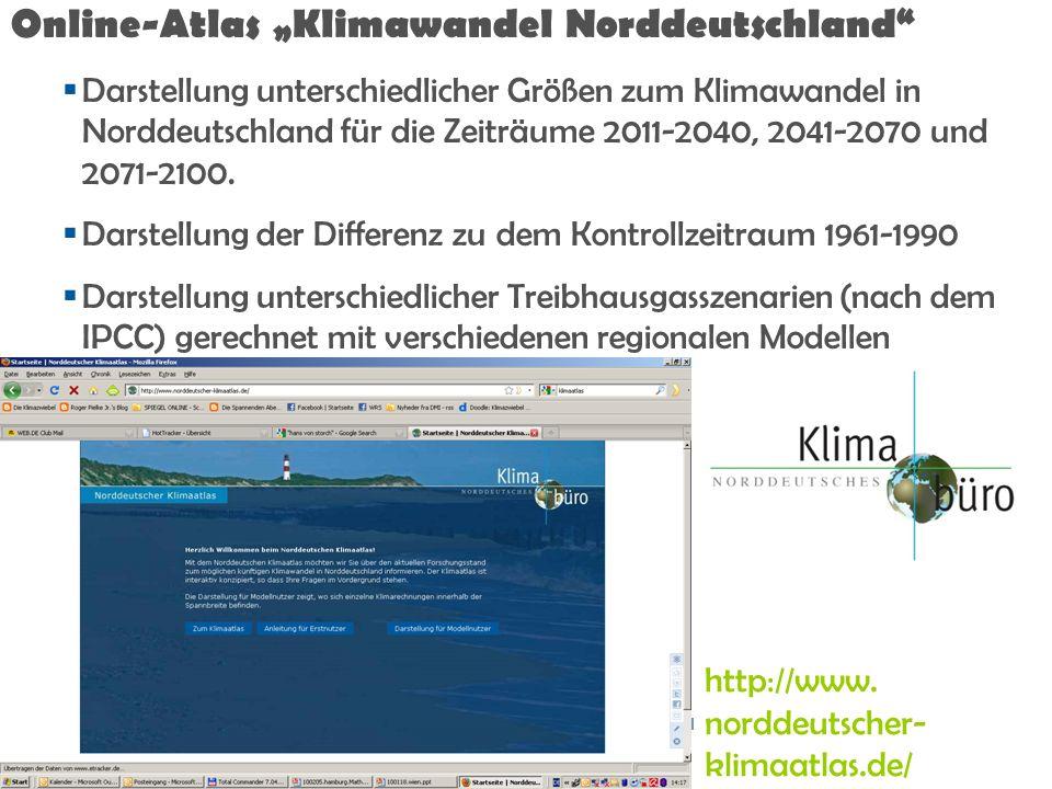 "Online-Atlas ""Klimawandel Norddeutschland"