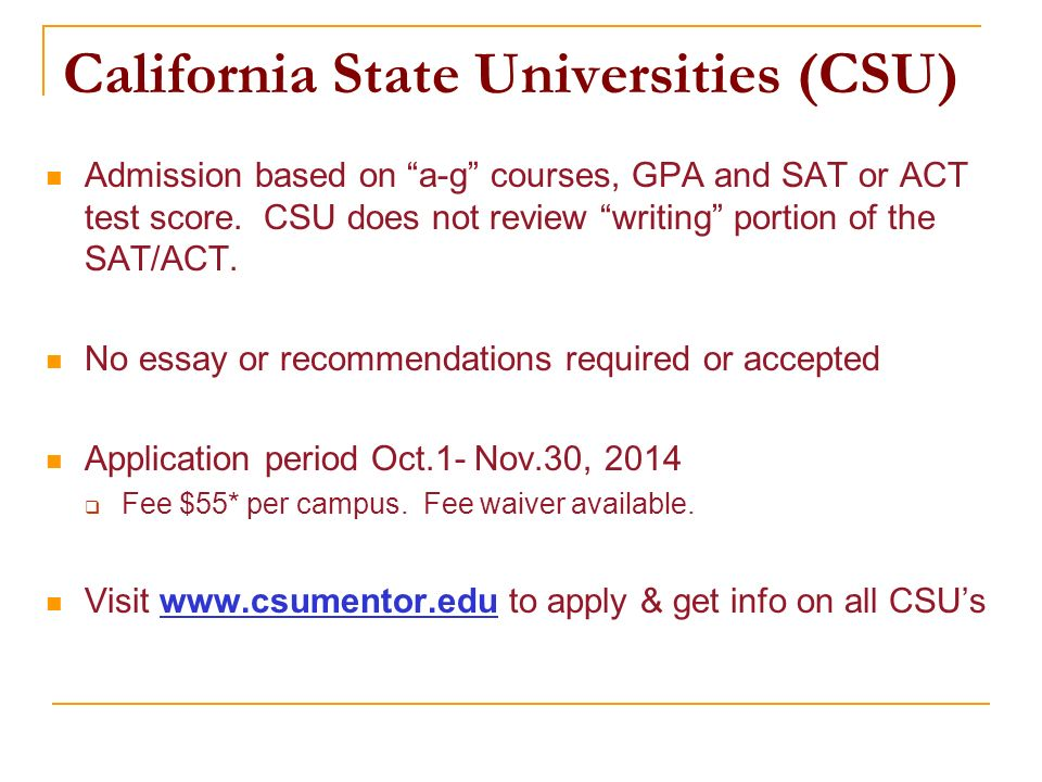 csu application essay requirements Home admissions how to apply in addition to the common application essay  transcript requirements 6 sat or act score.