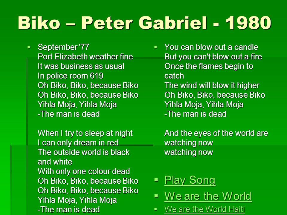 übersetzung biko peter gabriel