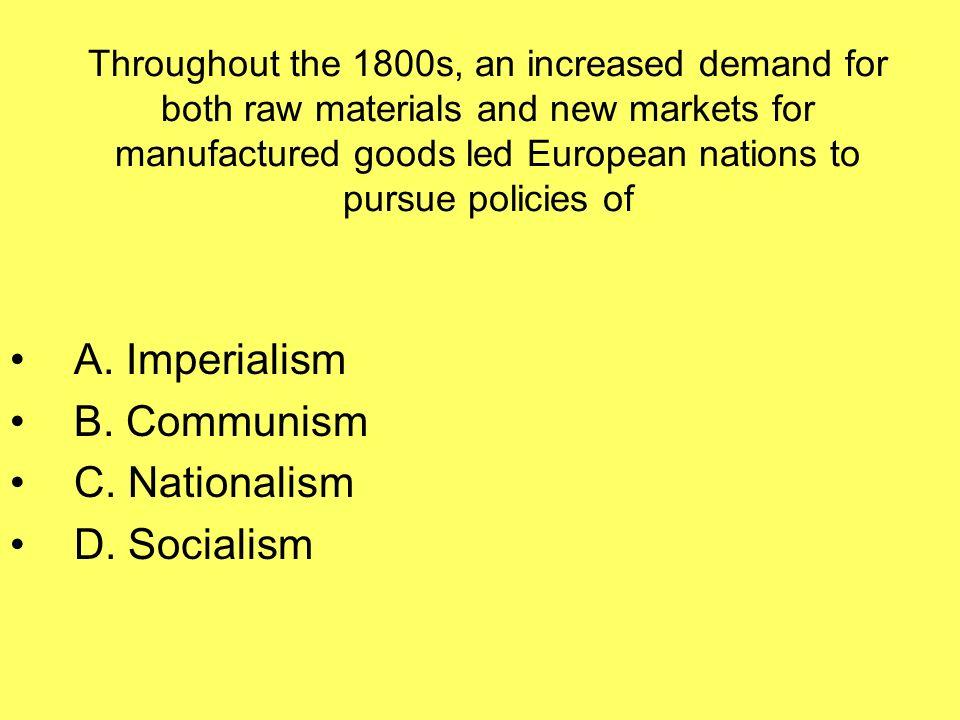 nationalism, industrialism, colonialism, imperialism and communism essay Global matrix: nationalism, globalism and terrorism  nationalism, globalism and terrorism (2005) download global matrix: nationalism, globalism and terrorism.