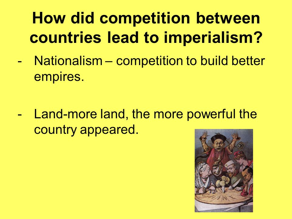 how did industrialization lead to imperialism Nationalism, industrialization and imperialism  describe the connection between industrialization and imperialism  it lead to a major change in the way we .