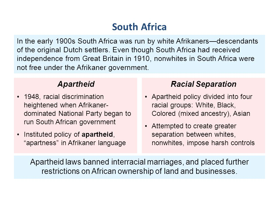 prejudice and discrimination south africa the coloureds or black africans The black lives matter movement–which initially targeted the lack of indictments for the murderers of unarmed african american men and women and has since contributed to a larger.