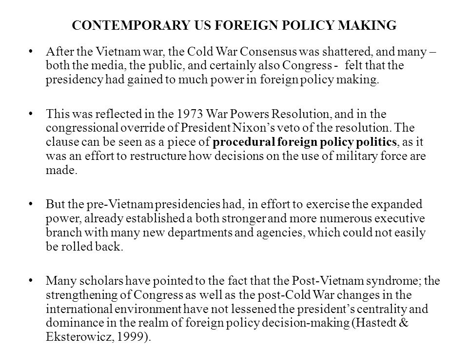 US FOREIGN POLICY POLITICS - ppt video online download
