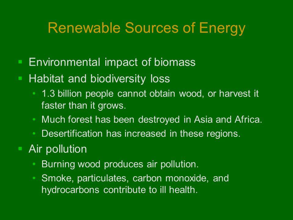 environmental impact of renewable energy sources pdf
