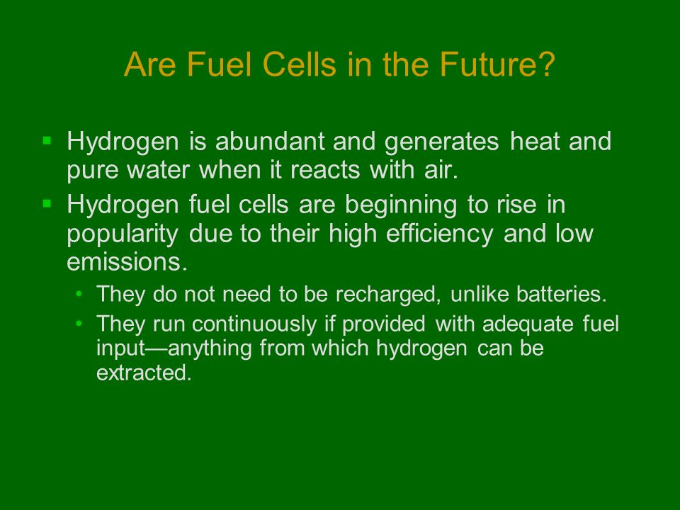 can fuel cells contribute to future Hydrogen and fuel cells production  before hydrogen can become the energy solution for our global future several alternative production methods are presently .