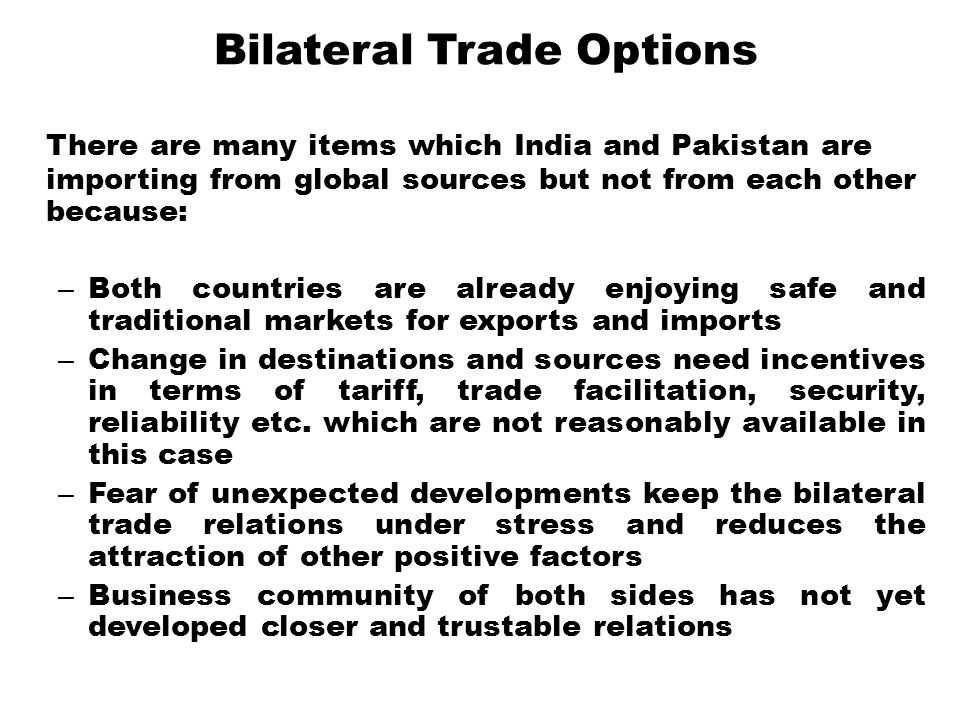 Bilateral Trade Options