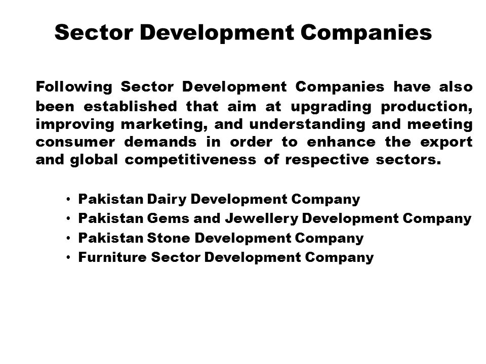 Sector Development Companies