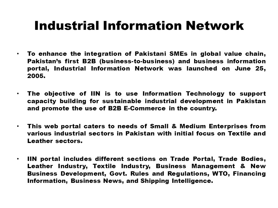 Industrial Information Network