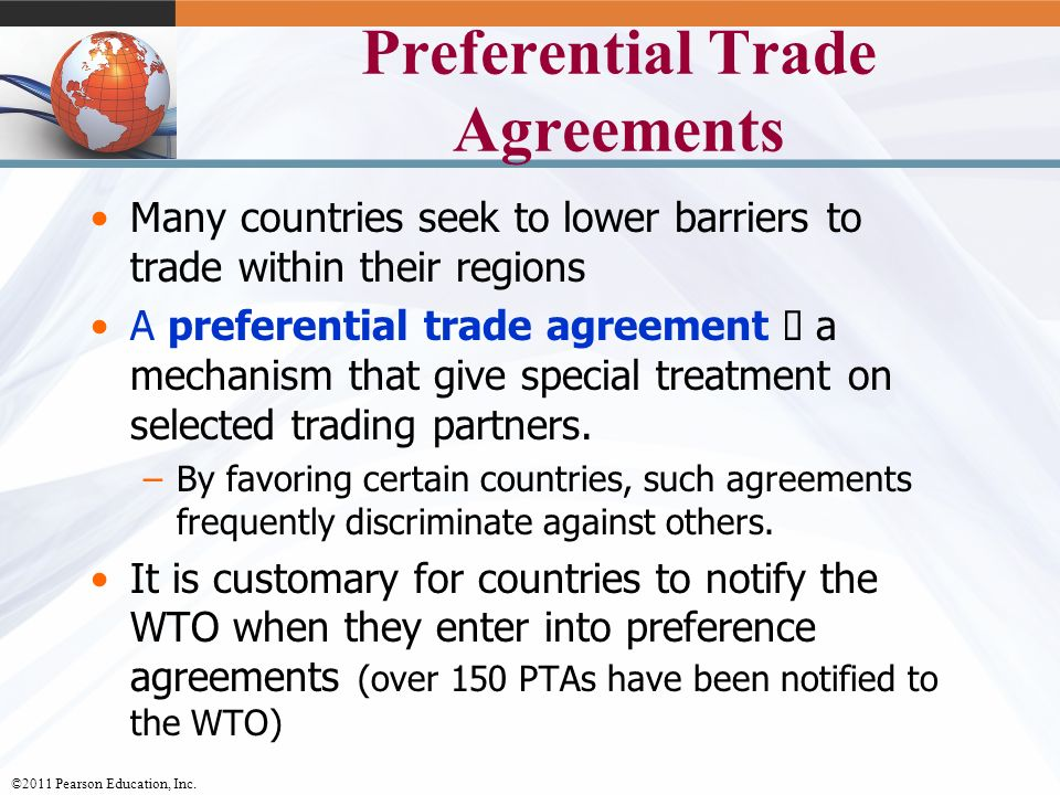 The trade environment regional market characteristics and preferential trade agreements platinumwayz
