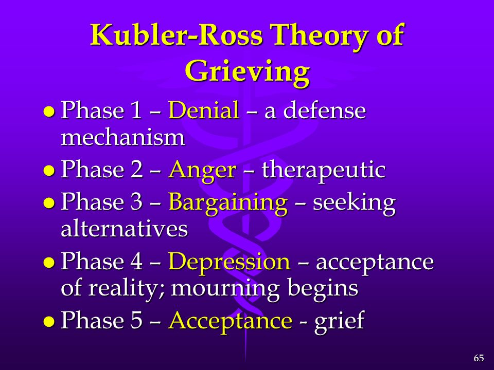 The three concept of the grieving process