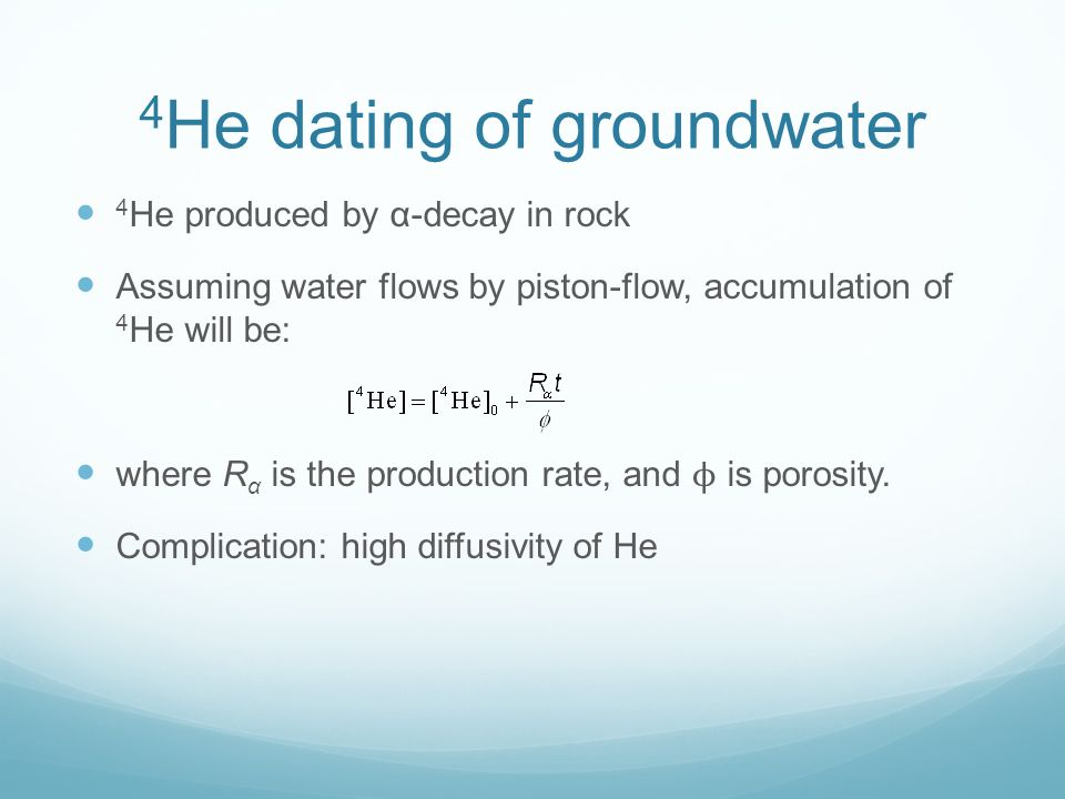 Groundwater age dating methods used in archaeology 8