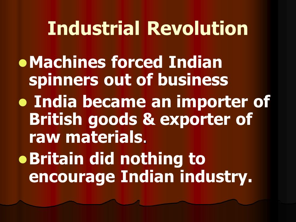 industrial revolution of india