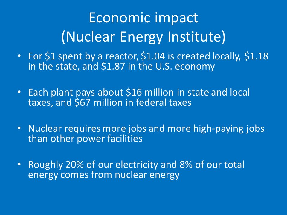 effects on nuclear energy on economic Yet limiting the worst effects of climate change may also require other low- or no-carbon energy solutions, including nuclear power nuclear power produces very few lifecycle carbon emissions it also faces substantial economic challenges, and carries significant human health and environmental risks.