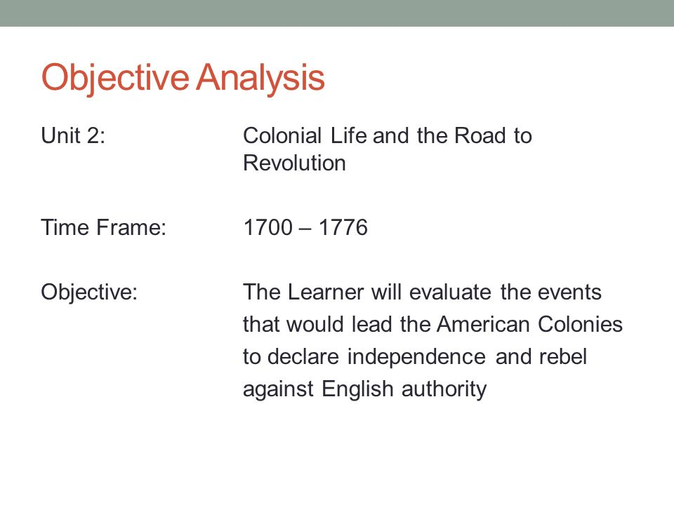 an analysis of the events that lead to the american revolution It was unbalanced, and the slaves were influenced by they american revolution,  how did events in europe lead to revolution in the spanish colonies.