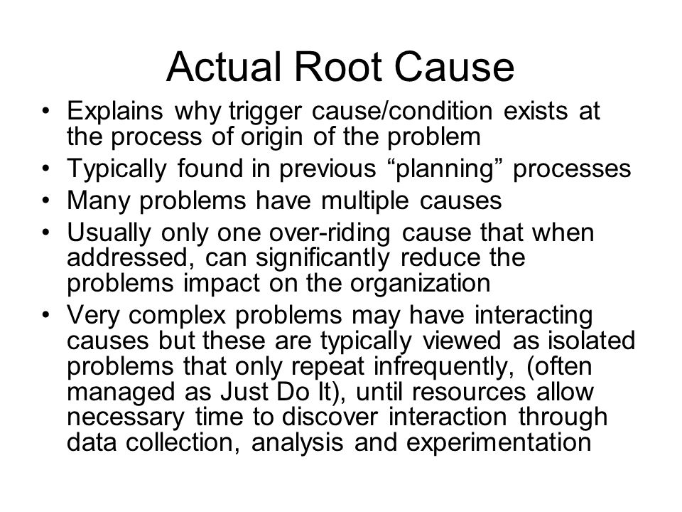 the root of the problem pdf